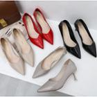 Pointy Patent High Heel Pumps