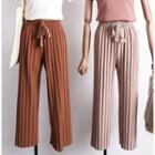 Glitter Pleated Wide-leg Pants