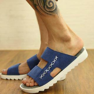 Faux-leather Slippers