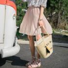 Chiffon Pleated A-line Skirt