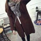 Plain Open Front Long Cardigan