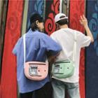 Plaid Pocket Crossbody Bag