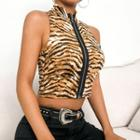 Tiger Patterned Sleeveless Top