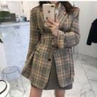 Plaid Single-breasted Cropped Coat
