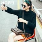Fringed Chunky Knit Sweater