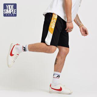 Drawcord Colorblock Shorts