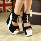 Platform Wedge High Top Sandals