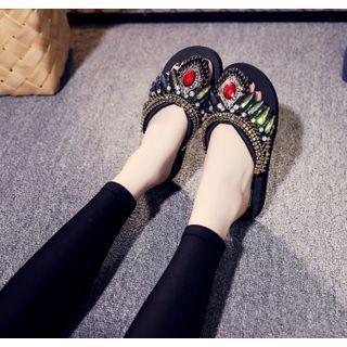 Gemstone Platform Flip-flops