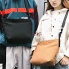 Plain Nylon Messenger Bag