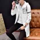 Applique Long Hooded Zip Jacket