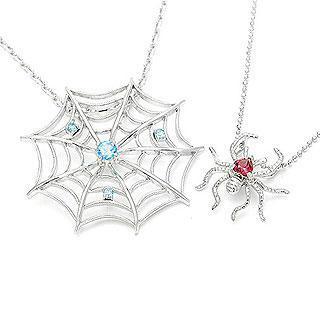 Spider & Net Pendant