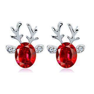 Crystal Deer Stud Earrings