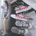 Checker Canvas Sneakers