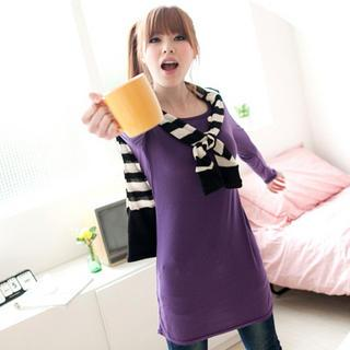 Round-neck Long T-shirt