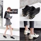 Faux Pearl Low-heel Ankle-boots