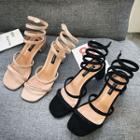 Block-heel Strappy Roman Sandals
