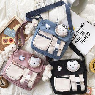 Pvc Panel Mini Messenger Bag