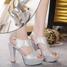 High Heel Platform Slingback Sandals