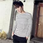 Long-sleeved Striped T-shirt