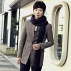 Herringbone Wool Blend Coat