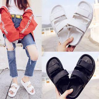 Hook And Loop Slide Sandals