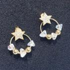 Star & Crystal Hoop Earring As Shown In Figure - One Size