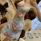 Flora Strappy Slit Sheath Dress