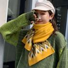 Rhombus Knit Scarf