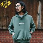Pocket-side Lettering Hooded Pullover
