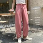 Drawstring Cropped Harem Pants / Wide-leg Pants
