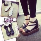 Platform Hidden Wedge Strappy Sandals