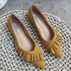 Pointy Toe Ruffled Flats