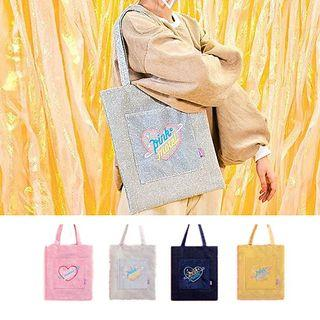Heart Embroidered Tote Bag