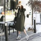 Hooded Color-block Pullover Dress