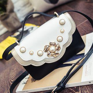 Faux Pearl Shoulder Bag