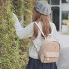 Lace-overlay Canvas Backpack
