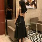 Cross Strap-back Midi Dress