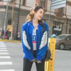 Wing Sequined Baseball Jacket