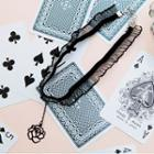 Rosette Pendant Lace Choker Necklace