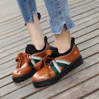 Color-block Oxford Shoes