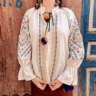 Long-sleeve Embroidered Light Jacket