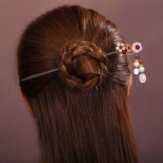 Agate Floral Hair Stick