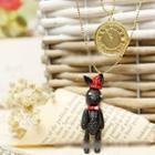 Layered Rabbit Drop Necklace