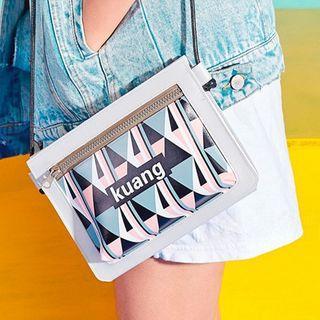 Printed Zip Cross Bag