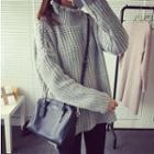 Turtleneck Chunky Knit Long Sweater