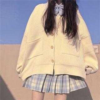 Plaid Mini Skirt / Cardigan / Shirt