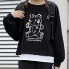 Round-neck Printed Long-sleeve Pullover