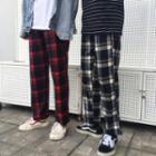 Couple Matching Check Pants