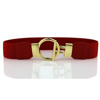 Elastic Round Buckle Belt
