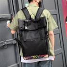 Leaf Panel Canvas Backpack Black - One Size